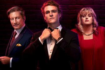 Alexander Bertrand (centre) stars alongside David Wenham and Rebel Wilson in new ABC drama, Les Norton.