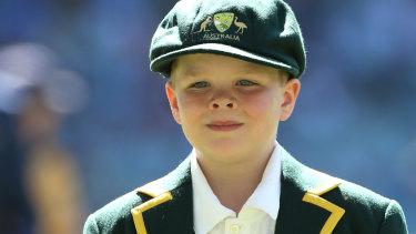 Make-a-Wish junior Australian Captain Archie Schiller.