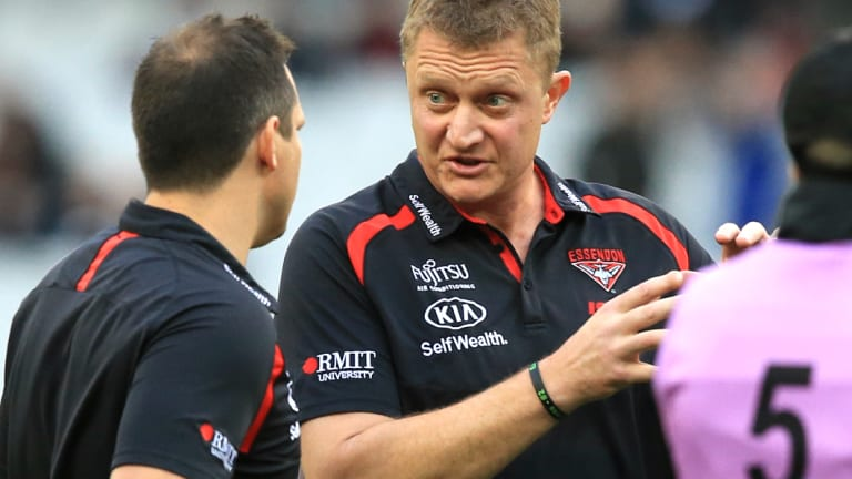 Mark Neeld during his time at Essendon.