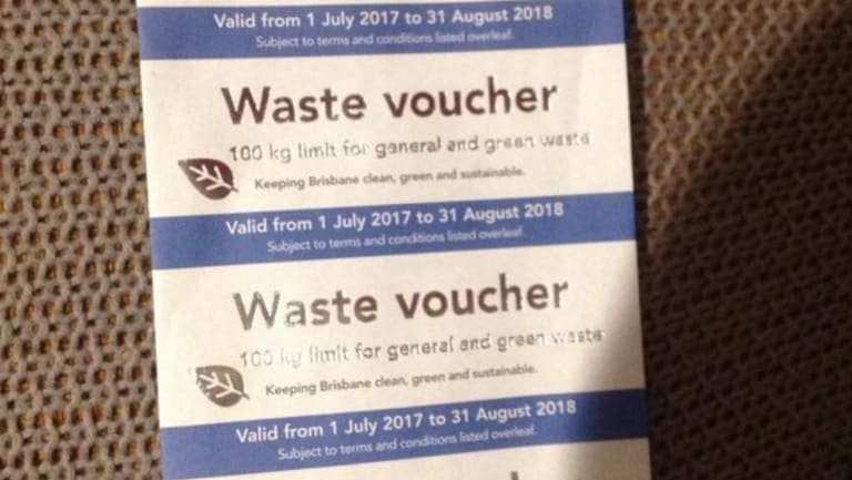 Brisbane City Council waste vouchers for 2017-2018 will include silver foil to stop people illegally photocopying them