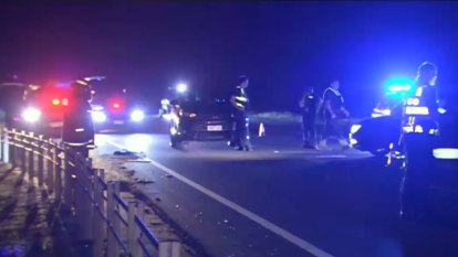 Woman killed on Peninsula Link after pulling over, stepping out of car