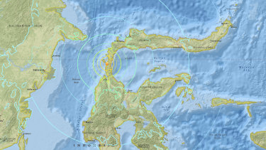 The US Geological Survey put the magnitude of the second quake at a strong 7.5.