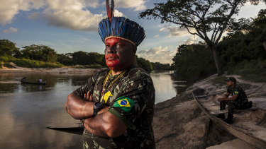 Claudio Jose da Silva, the co-ordinator of the Forest Guardians of Caru Indigenous Territory.