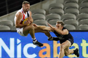 Jarryn Geary keeps Sam Docherty honest while also providing a forward target.