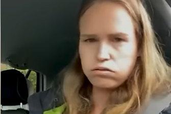 Monica Smit filmed herself during her arrest.