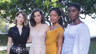 Lea Seydoux, from left, Ana de Armas, Naomie Harris and Lashana Lynch during the photo call of the latest installment of the James Bond film franchise, currently known as 'Bond 25'.