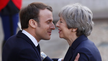 Seeing eye to eye? British Prime Minister Theresa May dashes to Paris to assuage French President Emmanuel Macron's Brexit doubts.