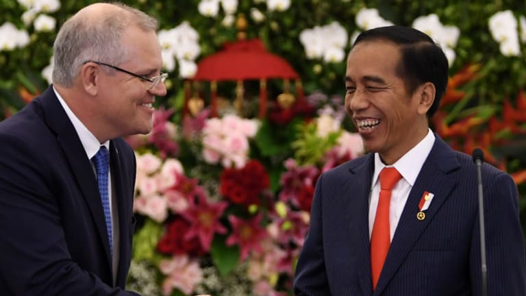 Scott Morrison and Joko Widodo at the weekend.