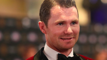 Early Brownlow favourite Patrick Dangerfield from Geelong finished second after a late surge.