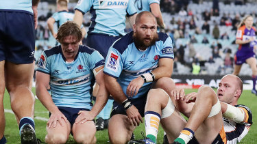 The Waratahs go down to the Brumbies in a narrow loss.