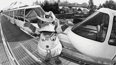 Brisbane's most famous platypus, World Expo 88's mascot Expo Oz.