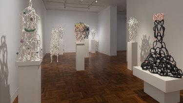 Lynda Draper's ceramics at Shepparton Art Museum.
