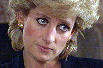 Princess Diana during the BBC interview in November 1995.