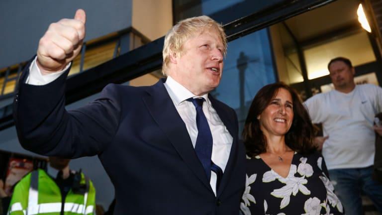 Happier times: Boris Johnson with Marina Wheeler in 2016.