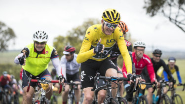 Chris Froome riding last year's L'Etape Australia.