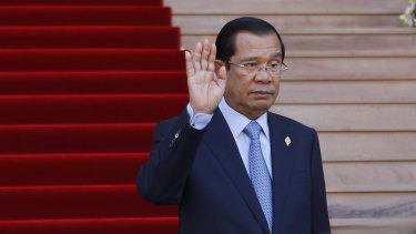 Cambodia's Prime Minister Hun Sen at the National Assembly, in Phnom Penh, Cambodia, last week.
