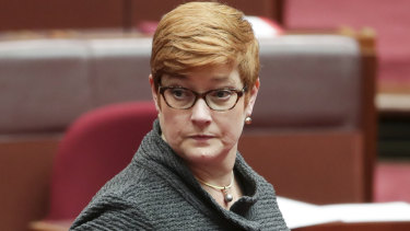 Considering sanctions: Minister for Foreign Affairs Marise Payne.