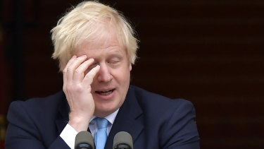 British Prime Minister Boris Johnson in Ireland on Monday.