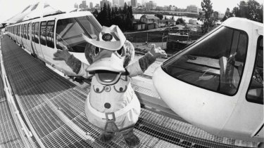 Brisbane's most famous platypus, World Expo 88's mascot Expo Oz.