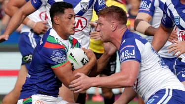 Dylan Napa is eager to improve on his disappointing debut for the Bulldogs.
