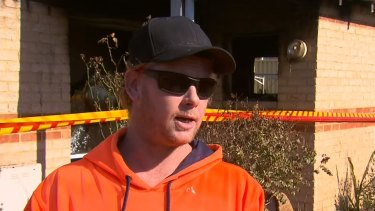 Darren Kyle Hunter in an interview with 9 News Perth last year, after he pulled an elderly woman from a burning house.