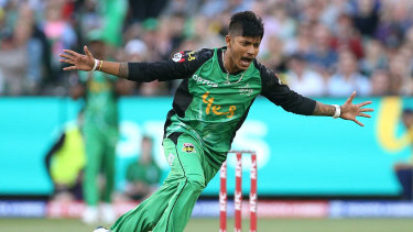 Sandeep Lamichhane will play in Bangladesh before returning to the Melbourne Stars.