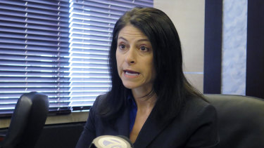 Michigan Attorney General Dana Nessel speaks during a news conference in Lansing, Michigan.