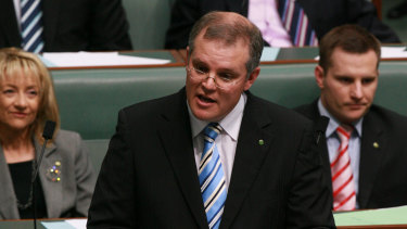 Scott Morrison making his first speech in Parliament in 2008.