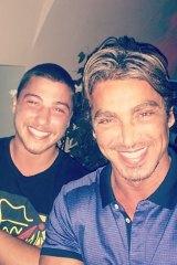 Daniel Taylor with his father John Ibrahim.