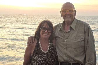 Dasha Ross with her husband, John Pinder. While both were optimists, Pinder's diagnosis left them in shock.
