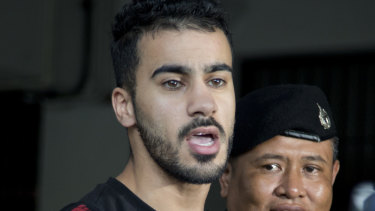 Melbourne football player Hakeem al-Araibi, a Bahraini refugee, has been held in Thailand for months.