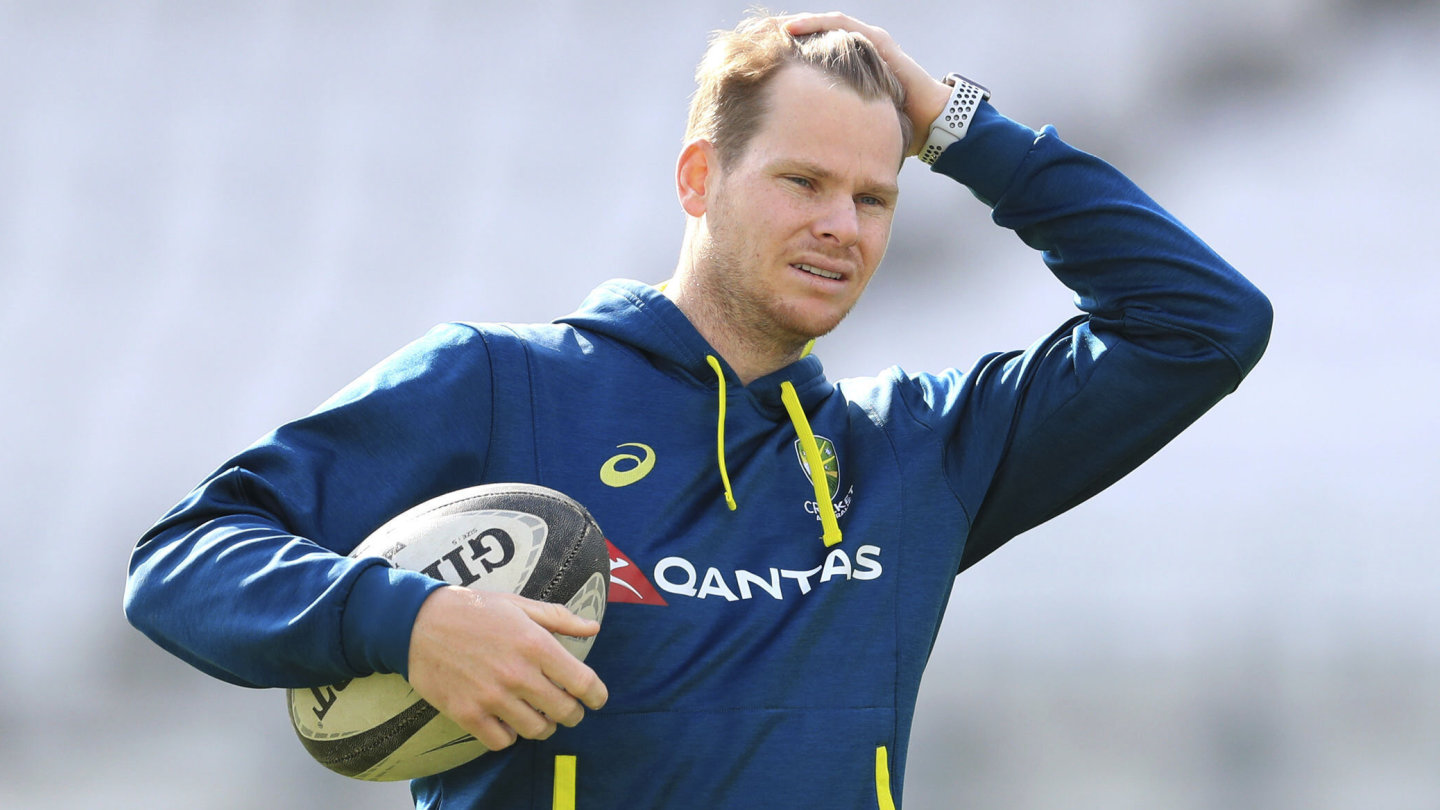 Australia's Steve Smith was forced to sit out training at Leeds on Tuesday.