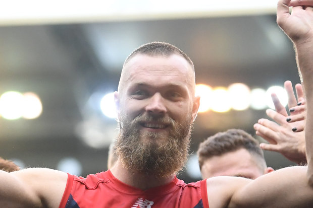 From the front: Max Gawn will lead the Demons in 2020