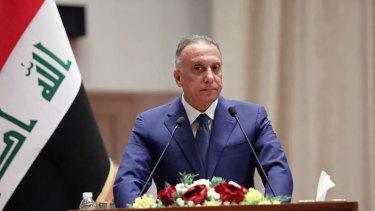 Iraqi PM Mustafa al-Kahdimi.