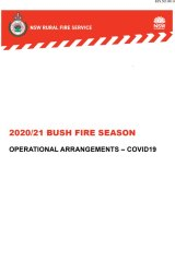 In a 15-page document, the RFS has outlined its plan for the coming bushfire season amid the COVID-19 crisis.