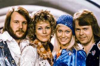 They way they really were ... ABBA at the 1974 Eurovision Song Contest. Their hit song, Waterloo, won.
