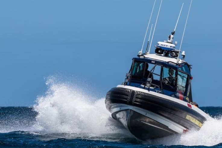 The border force carries out frontline duties such as border partol and marine surveillance.