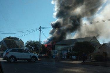 Warwick East State School fire.
