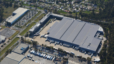 The Aldi distribution centre at Minchinbury in Sydney's outer west.