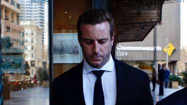Joel Cheeseman, 30, leaves the Downing Centre on Wednesday.