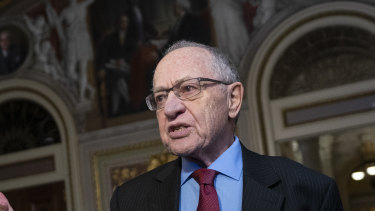 Alan Dershowitz also acted as lawyer for US President Donald Trump during this years impeachment proceedings.