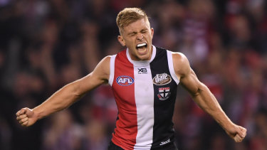 All Saints day: St Kilda's Sebastian Ross reacts after the final siren in their clash against Hawthorn.