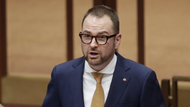 New Liberal senator Andrew Bragg delivers his first speech after previously working in the financial services industry.
