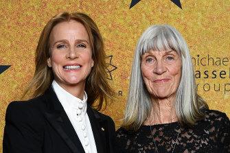 Rachel Griffiths and Anna Griffiths at the Hamilton premiere.
