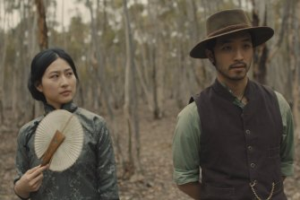 Mabel Li and Yoson An in the SBS drama New Gold Mountain, which explores the Australian gold rush from the perspective of Chinese miners.
