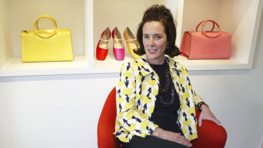 Kate Spade (pictured during an interview in 2004) had cut ties with her namesake company for more than a decade, but remained a big part of the brand's appeal.