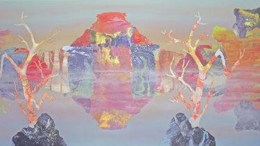 Kate Shaw: <i>Charcoal, UK: Maralinga</i>, acrylic and resin onboard, 120 x 240 cm, 2012. Copyright: the artist.