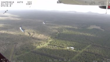 Vision of the search for a missing gyrocopter and its pilot on the central Queensland coast.