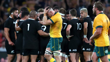 Lachie Swinton is sent off against the All Blacks last weekend.