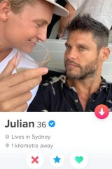 Tobias - or an impersonator - showed up on the Tinder dating app.